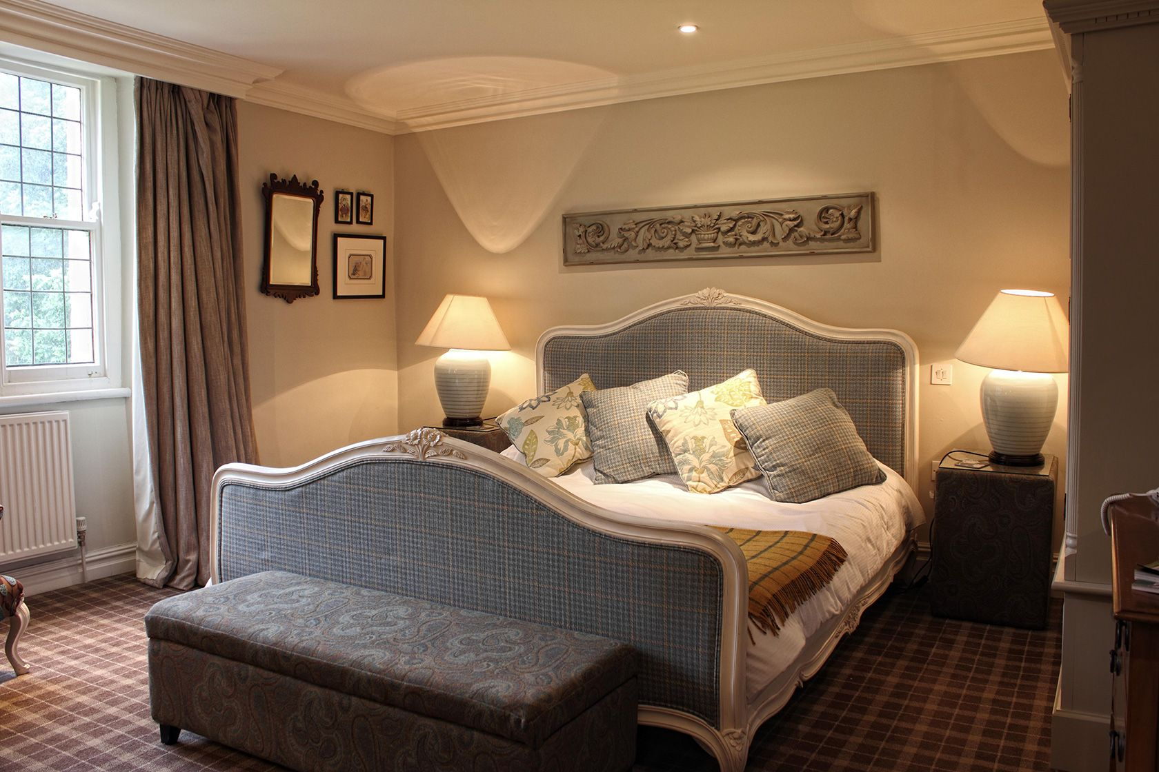 Inside one of the Spread Eagle's fabulous bedrooms near Bowland Brewery and Clitheroe Castle